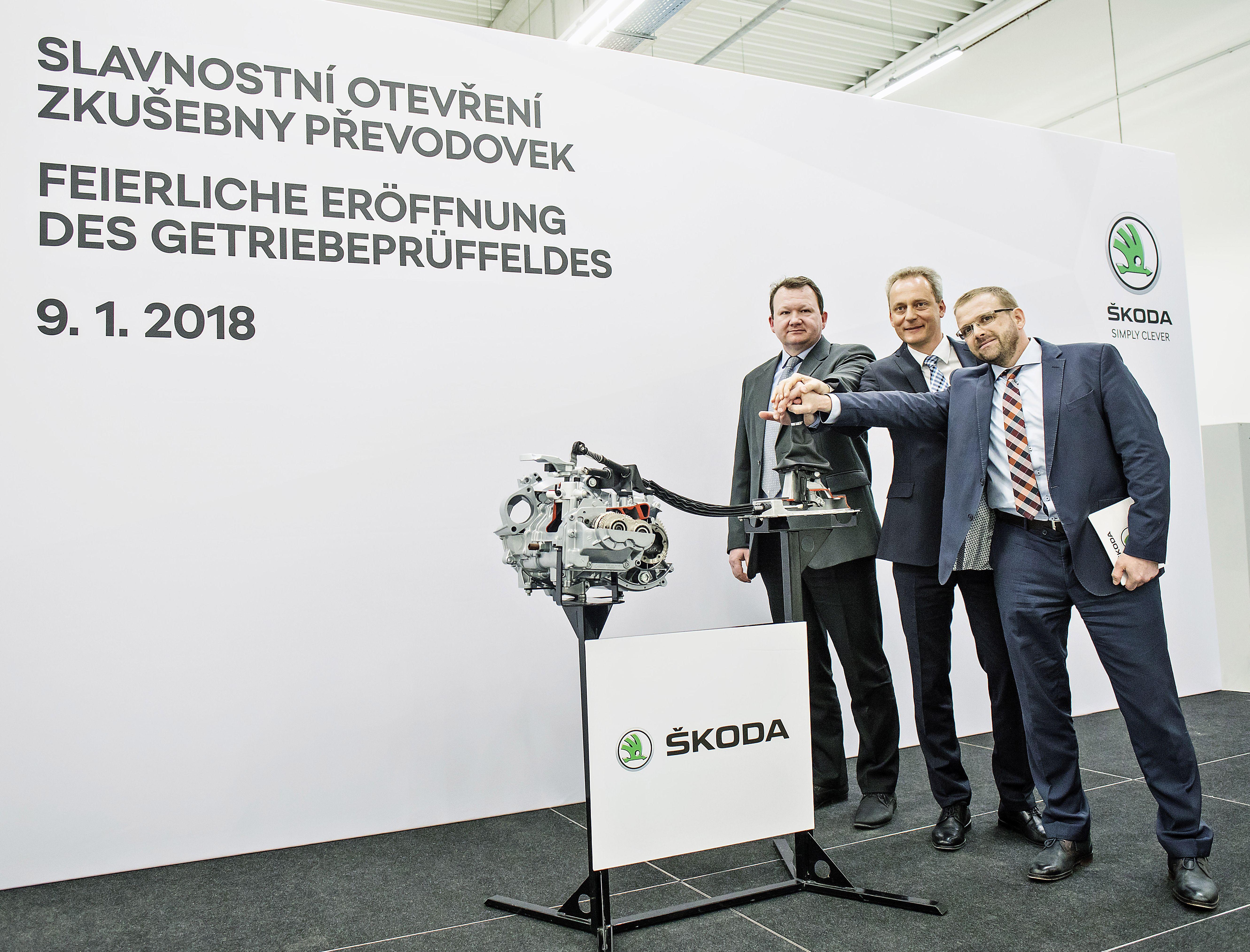 Slavnostní otevření zkušebny převodovek Škoda Auto