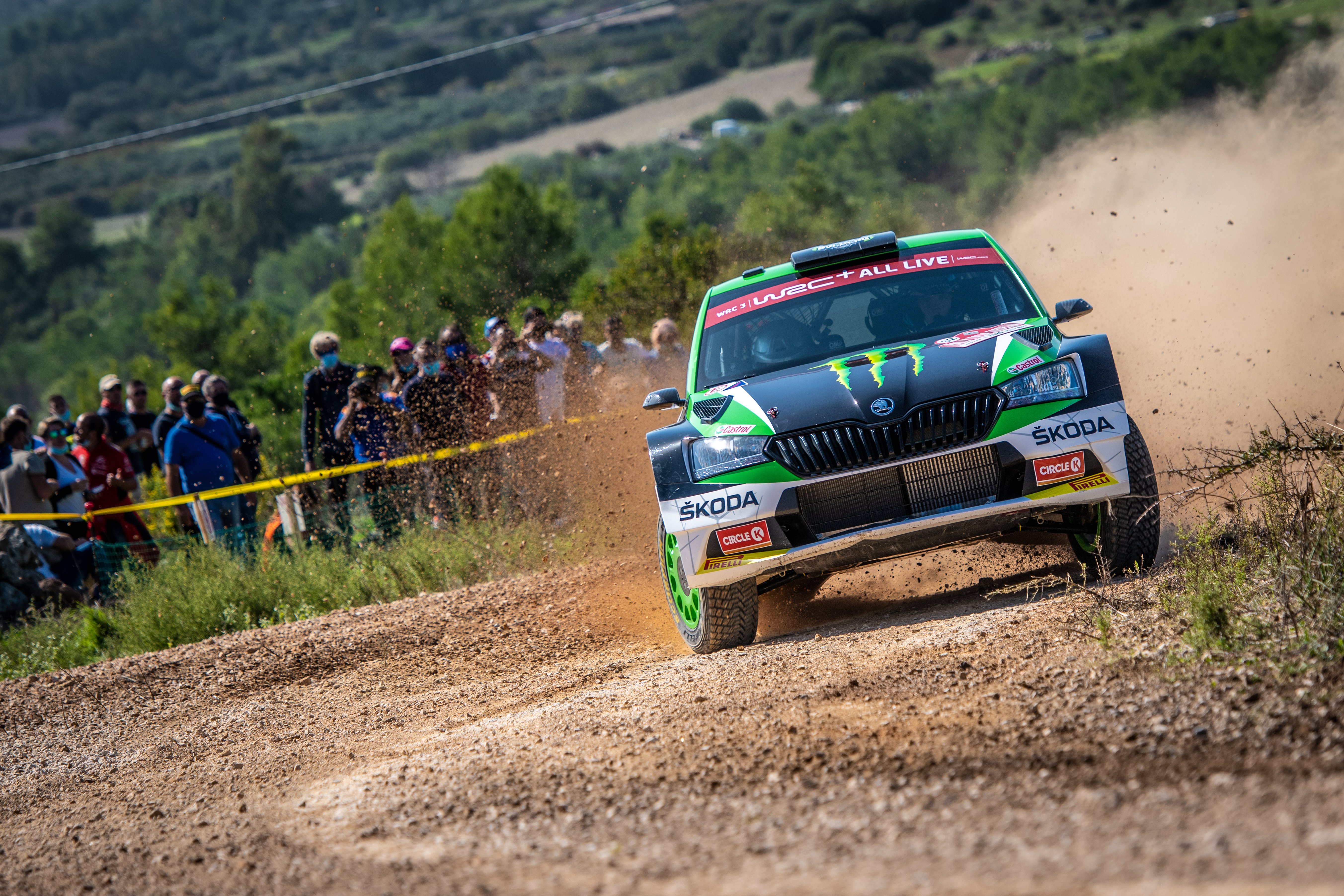 Rally Italia Sardegna: Two SKODA crews on top of WRC2 and WRC3 after tough first leg - Image 3