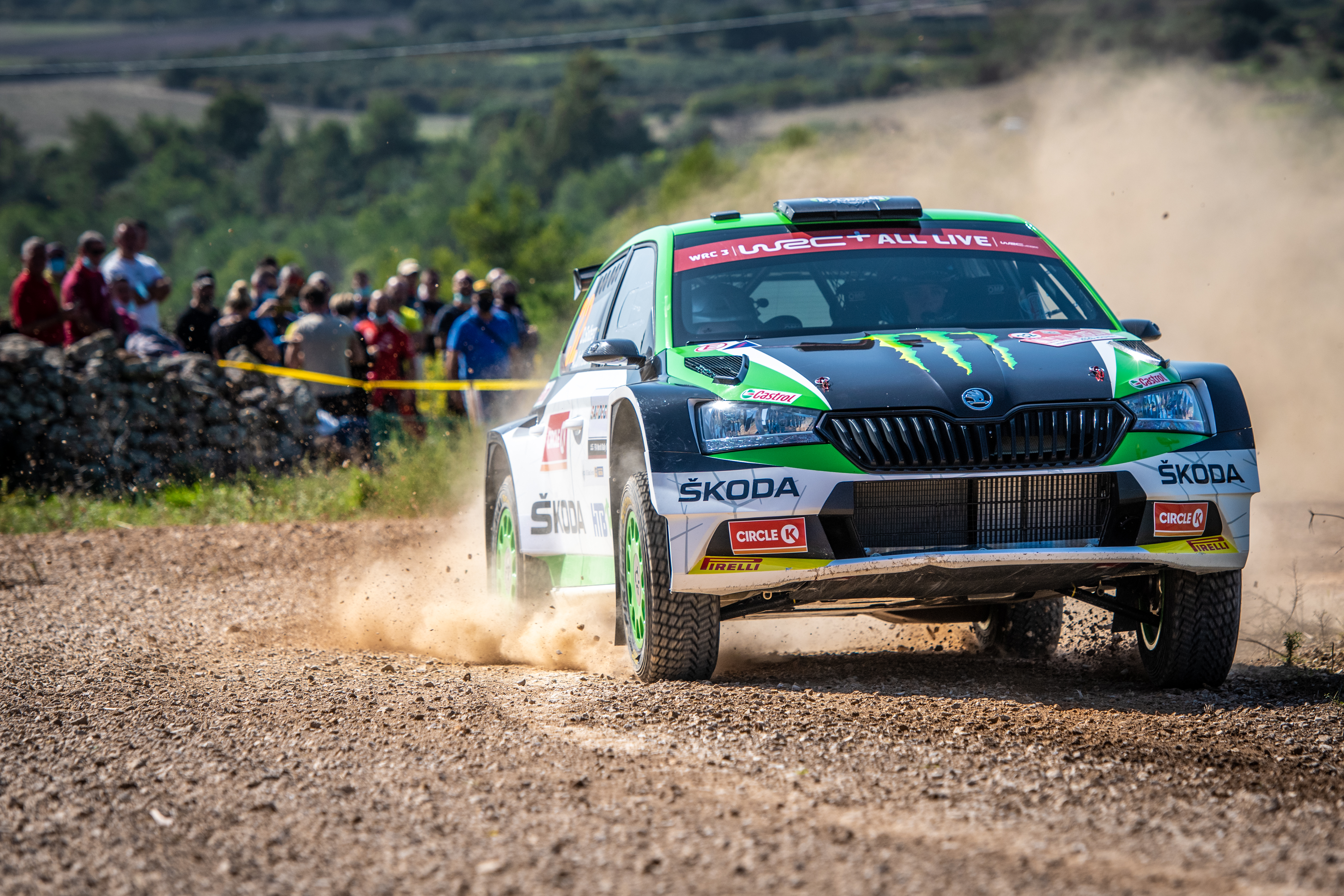 Rally Italia Sardegna: Two SKODA crews on top of WRC2 and WRC3 after tough first leg - Image 2