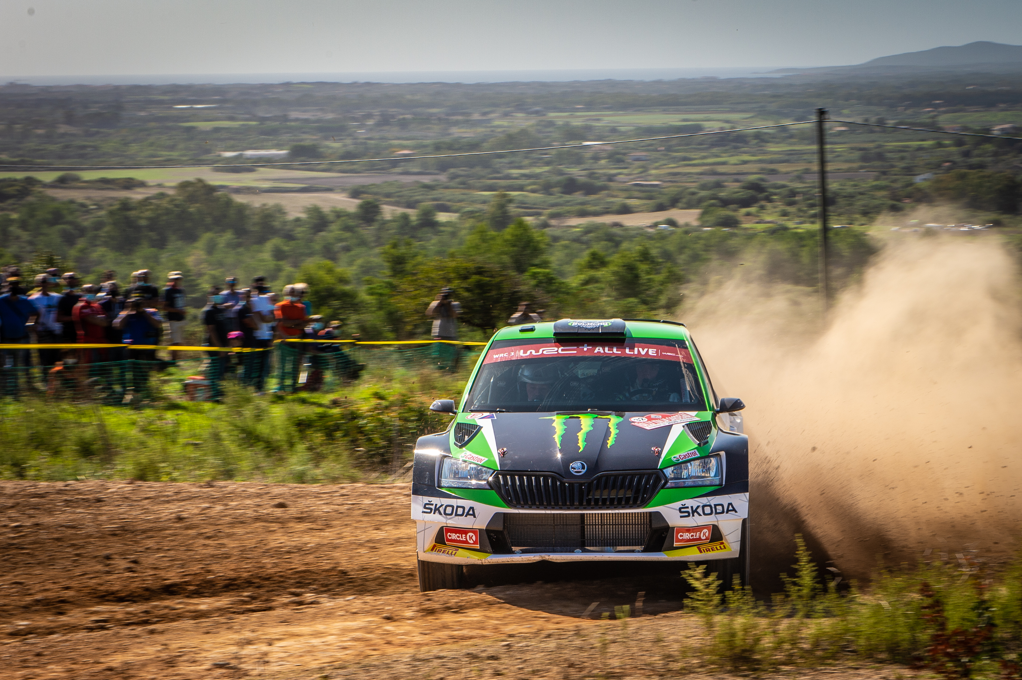 Rally Italia Sardegna: Two SKODA crews on top of WRC2 and WRC3 after tough first leg - Image 1