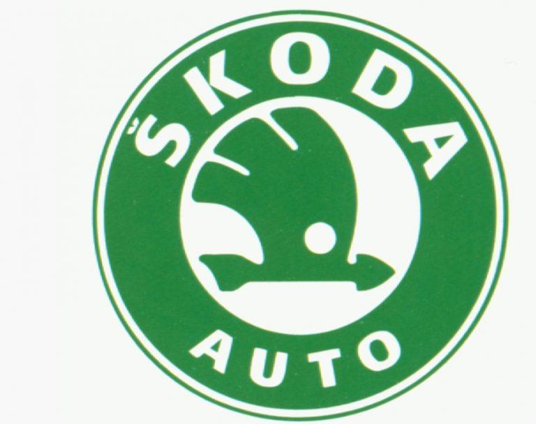 Logo ŠKODA užívané v letech 1993-1999.