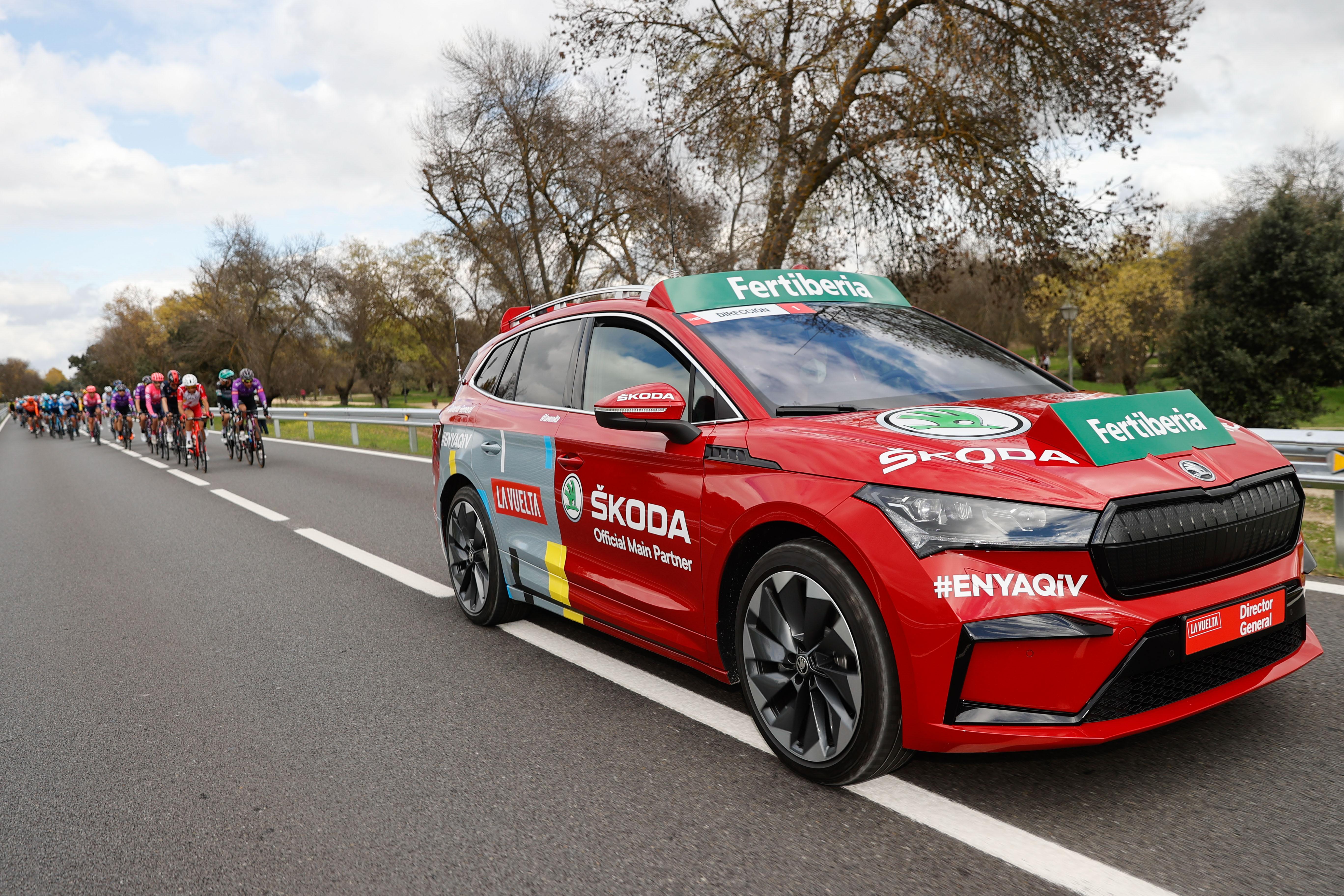 SKODA ENYAQ iV led three stages of Spanish cycling tour La Vuelta - Image 1