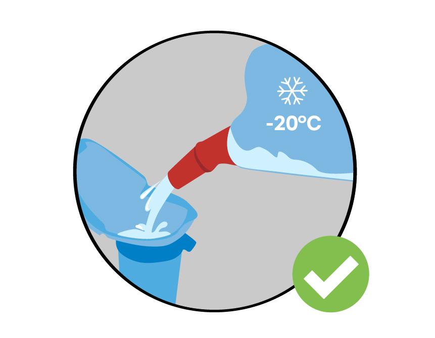 3. Nenechte zamrznout ostřikovače