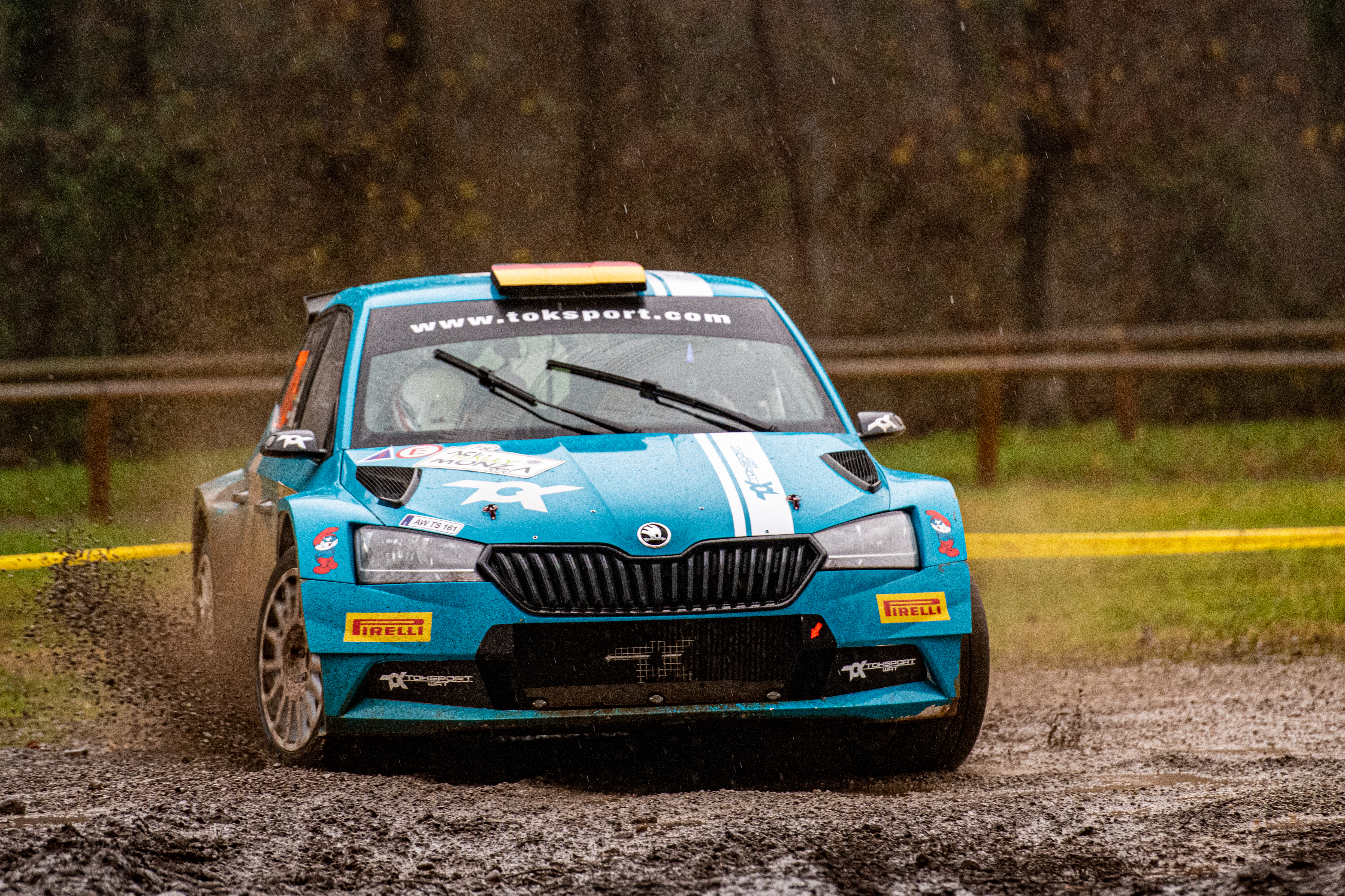 ACI Rally Monza: Clever tactics pays off as SKODA crews lead WRC2 and WRC3 after first leg - Image 6