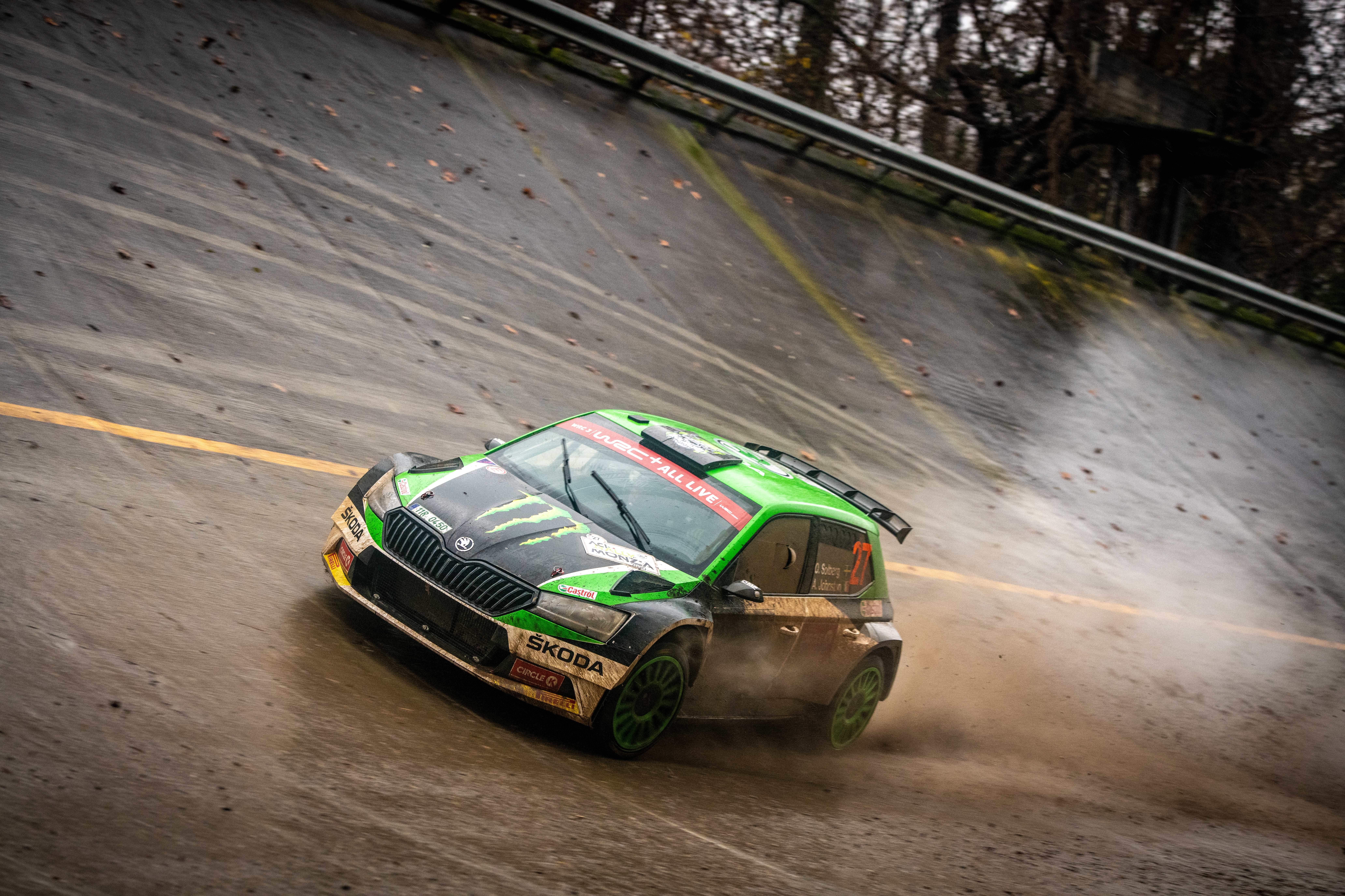 ACI Rally Monza: Clever tactics pays off as SKODA crews lead WRC2 and WRC3 after first leg - Image 3