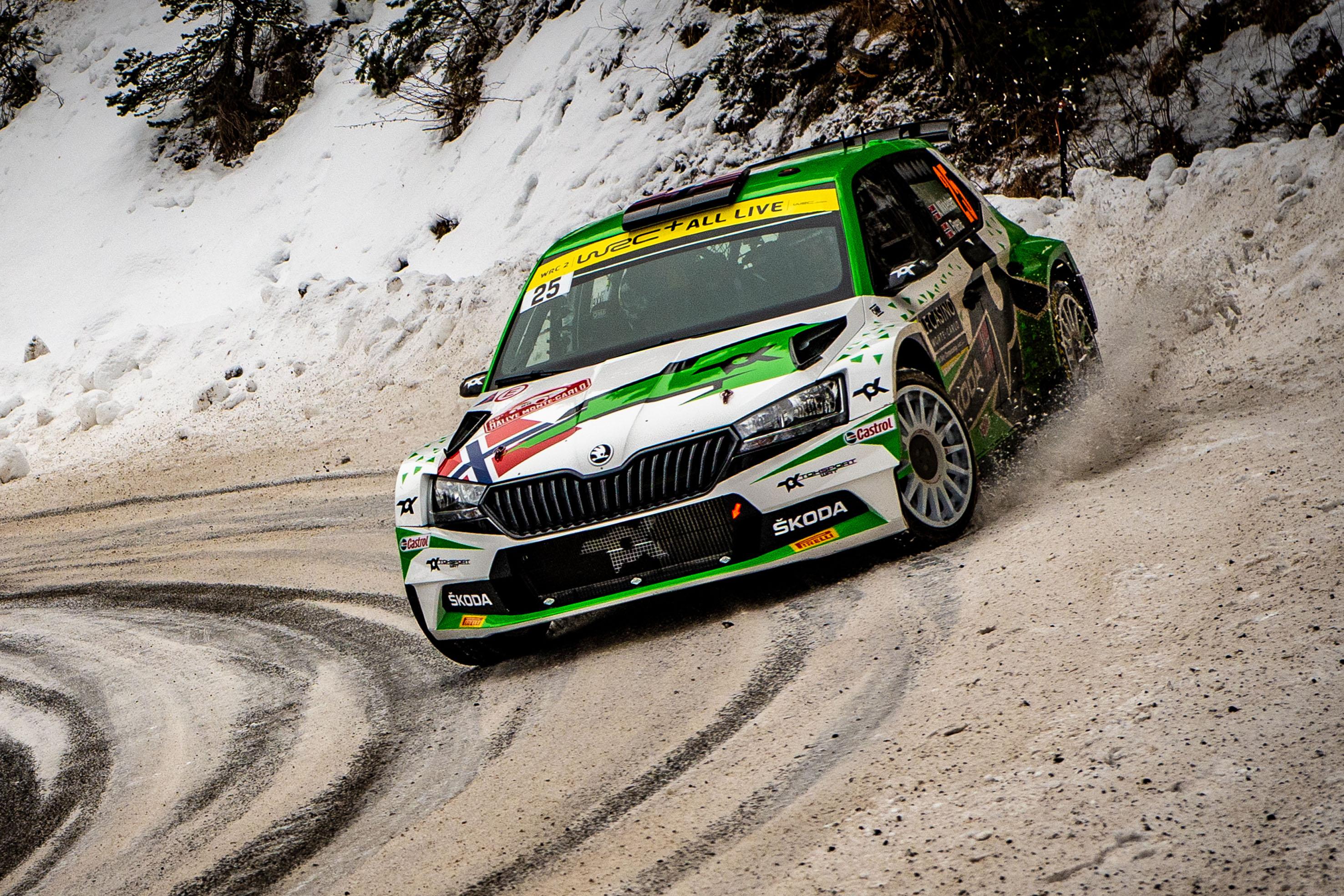 Rallye Monte-Carlo: SKODA FABIA Rally2 evo driver Mikkelsen starts as WRC2 leader into last leg - Image 2