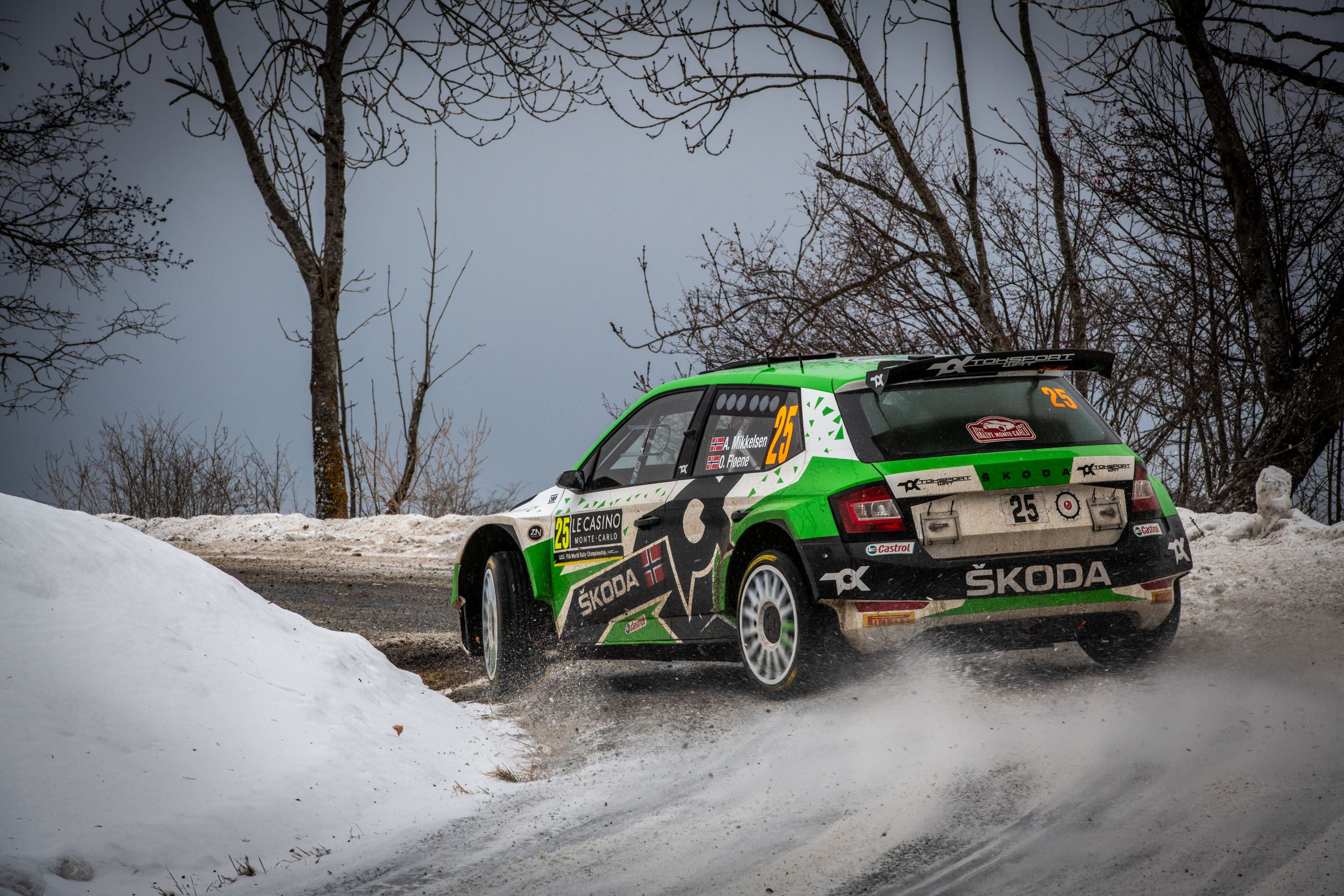 Rallye Monte-Carlo: SKODA FABIA Rally2 evo driver Mikkelsen starts as WRC2 leader into last leg - Image 3