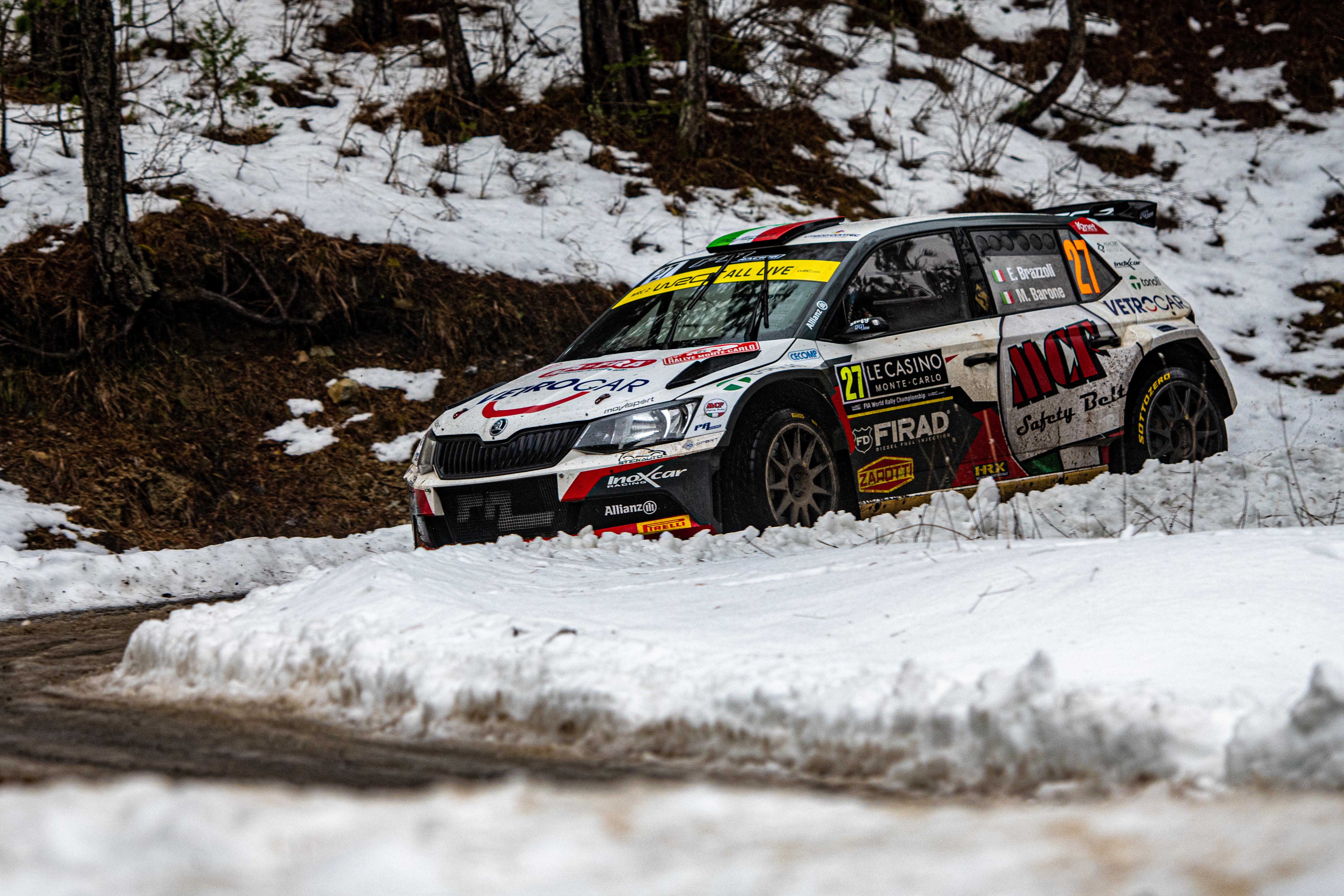 Rallye Monte-Carlo: SKODA FABIA Rally2 evo driver Mikkelsen starts as WRC2 leader into last leg - Image 6