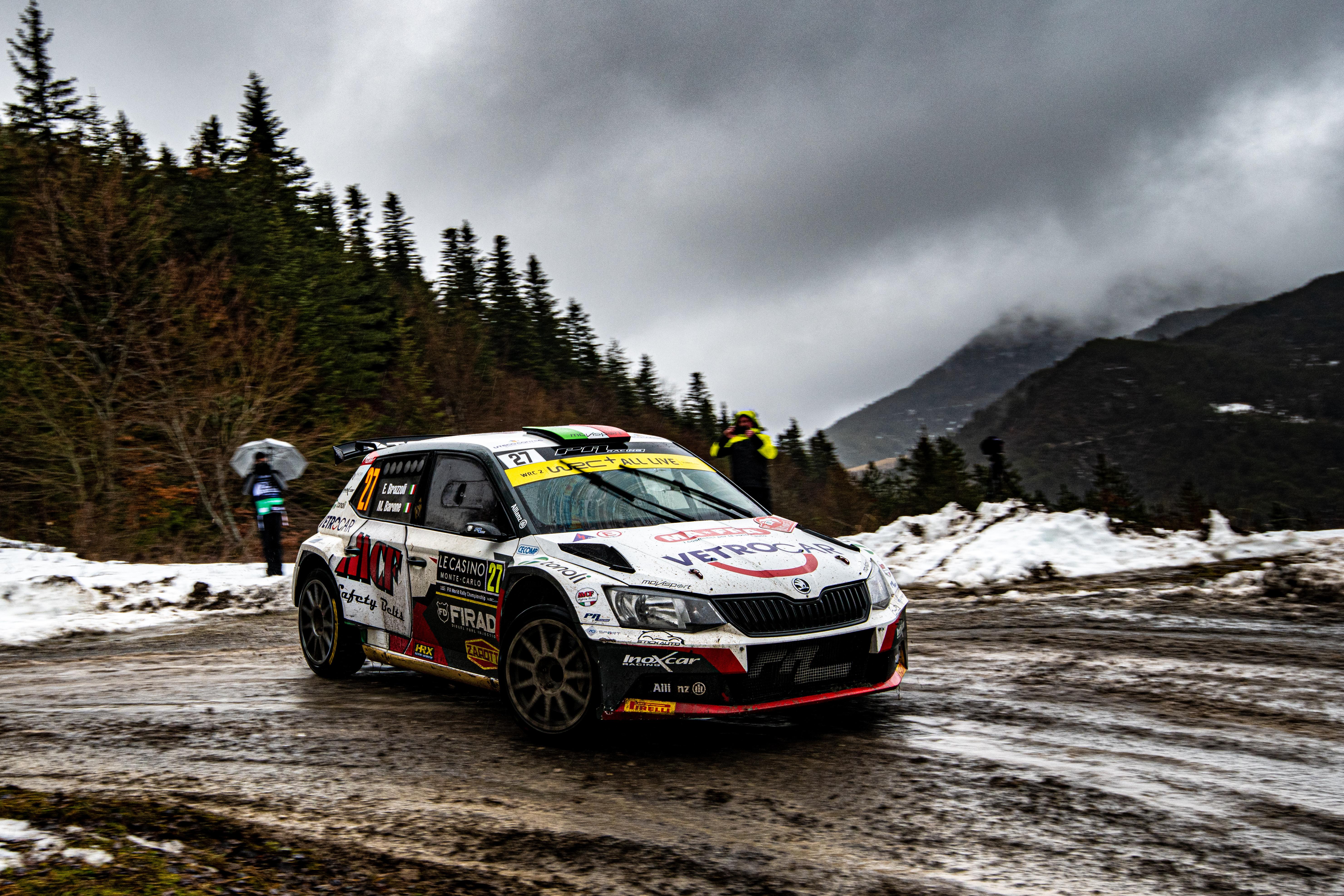 Rallye Monte-Carlo: SKODA FABIA Rally2 evo driver Mikkelsen starts as WRC2 leader into last leg - Image 8