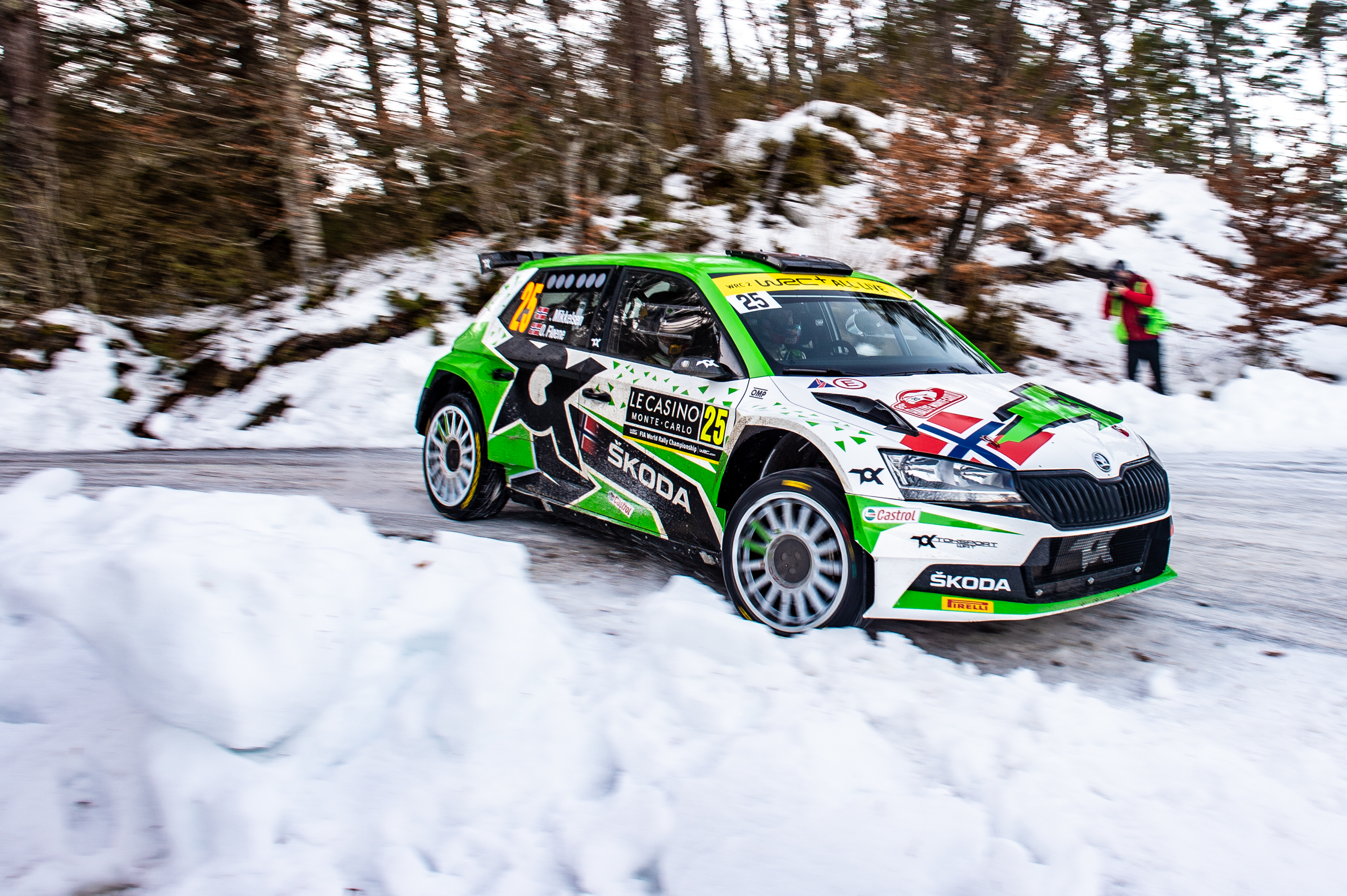 Arctic Rally Finland: WRC2 leader Mikkelsen faces tough competition in his SKODA FABIA Rally2 evo - Image 2
