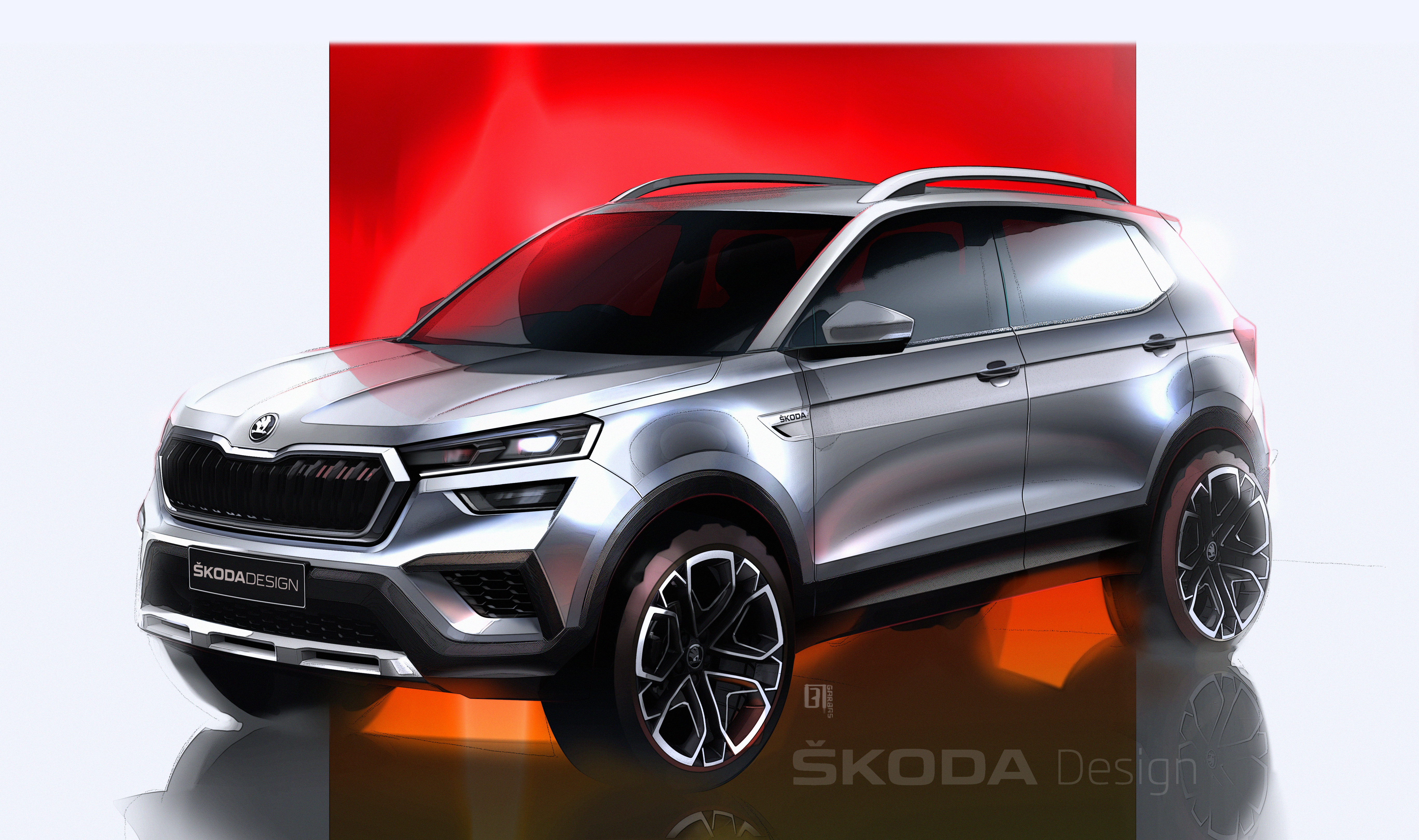 SKODA KUSHAQ: Design sketches offer a preview of the new SUV for the Indian market - Image 2