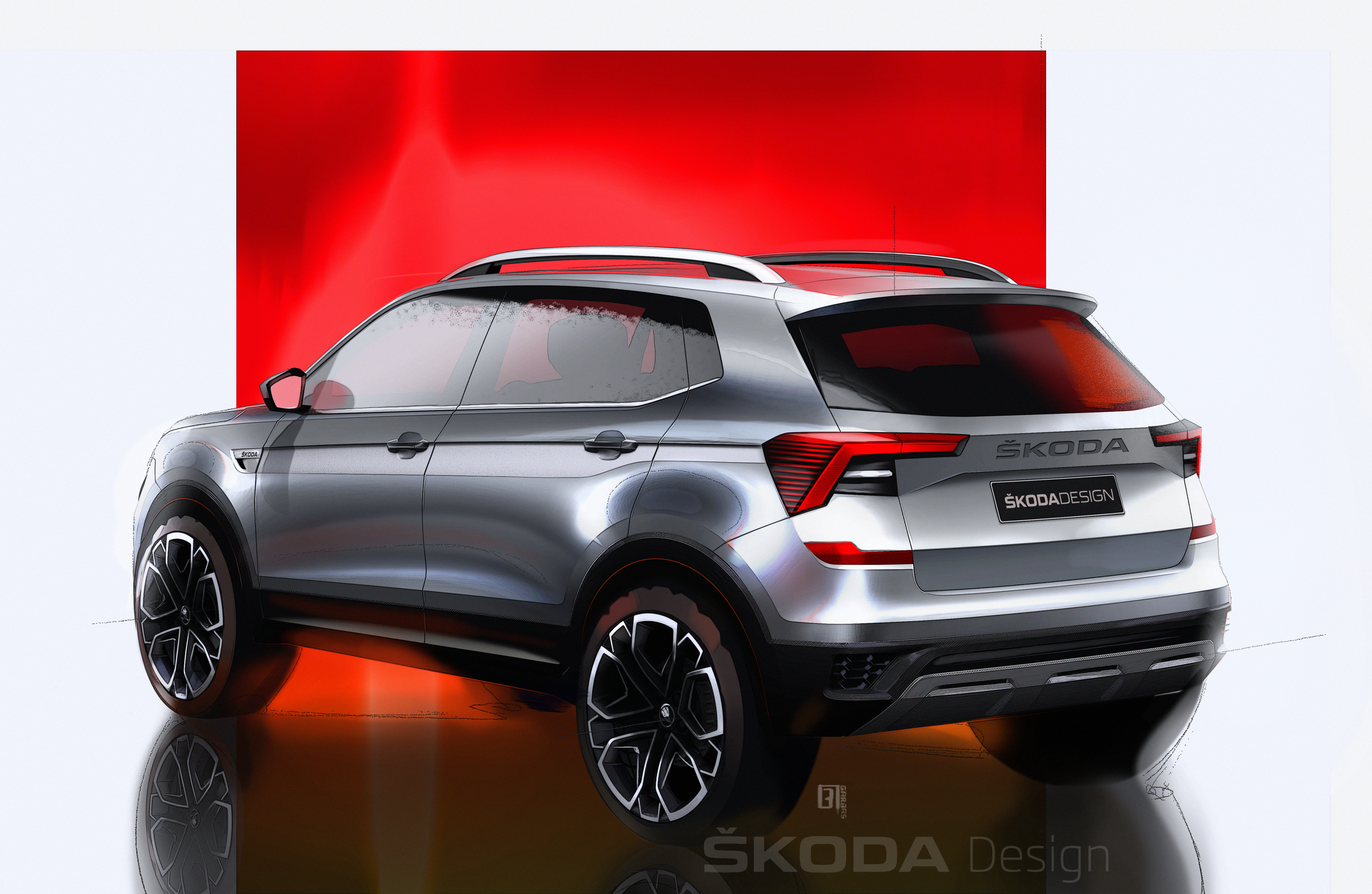SKODA KUSHAQ: Design sketches offer a preview of the new SUV for the Indian market - Image 1
