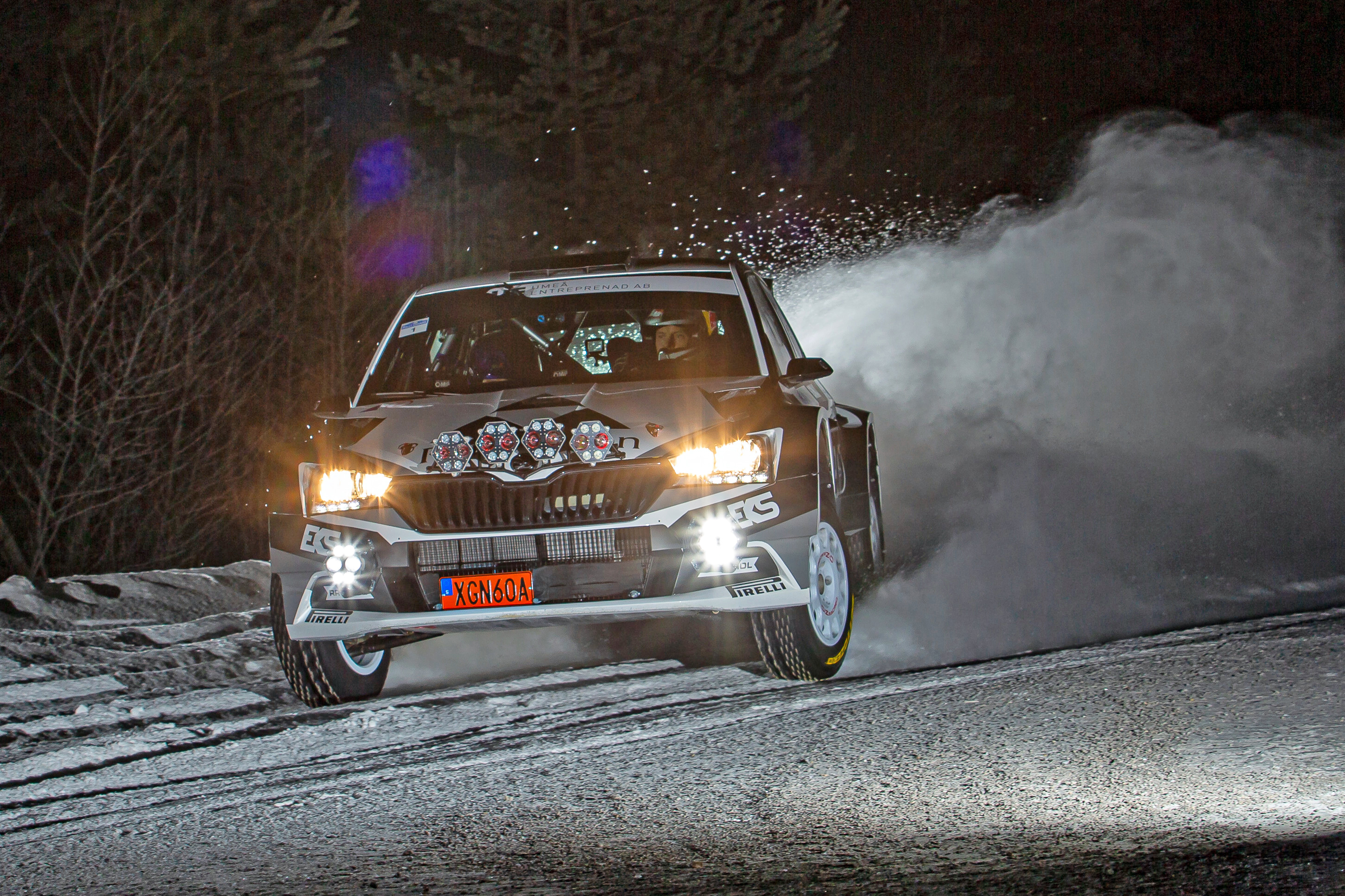 Arctic Rally Finland: WRC2 leader Mikkelsen faces tough competition in his SKODA FABIA Rally2 evo - Image 1