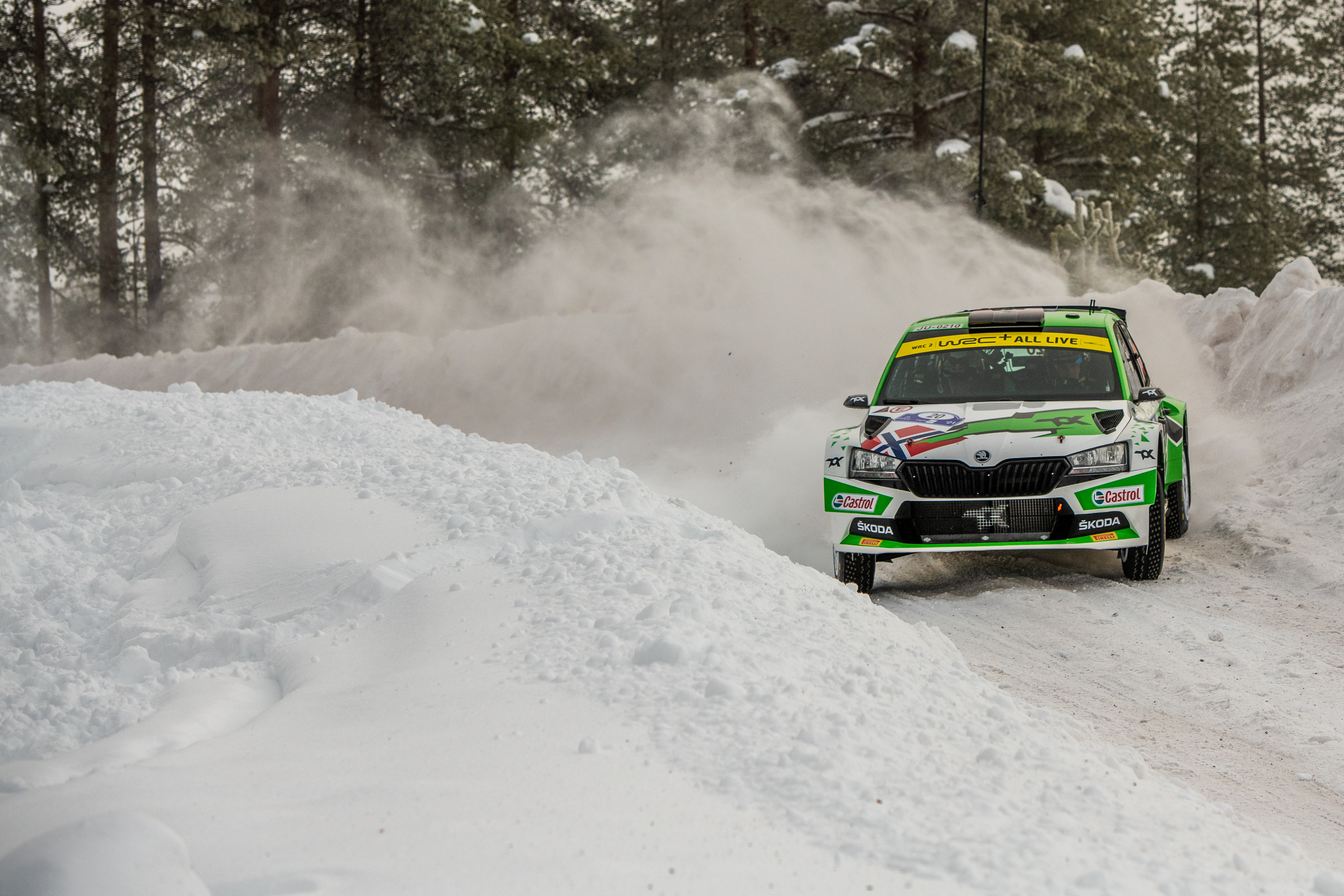 Arctic Rally Finland: SKODA Motorsport supported Andreas Mikkelsen finishes Friday leg third in WRC2 - Image 8