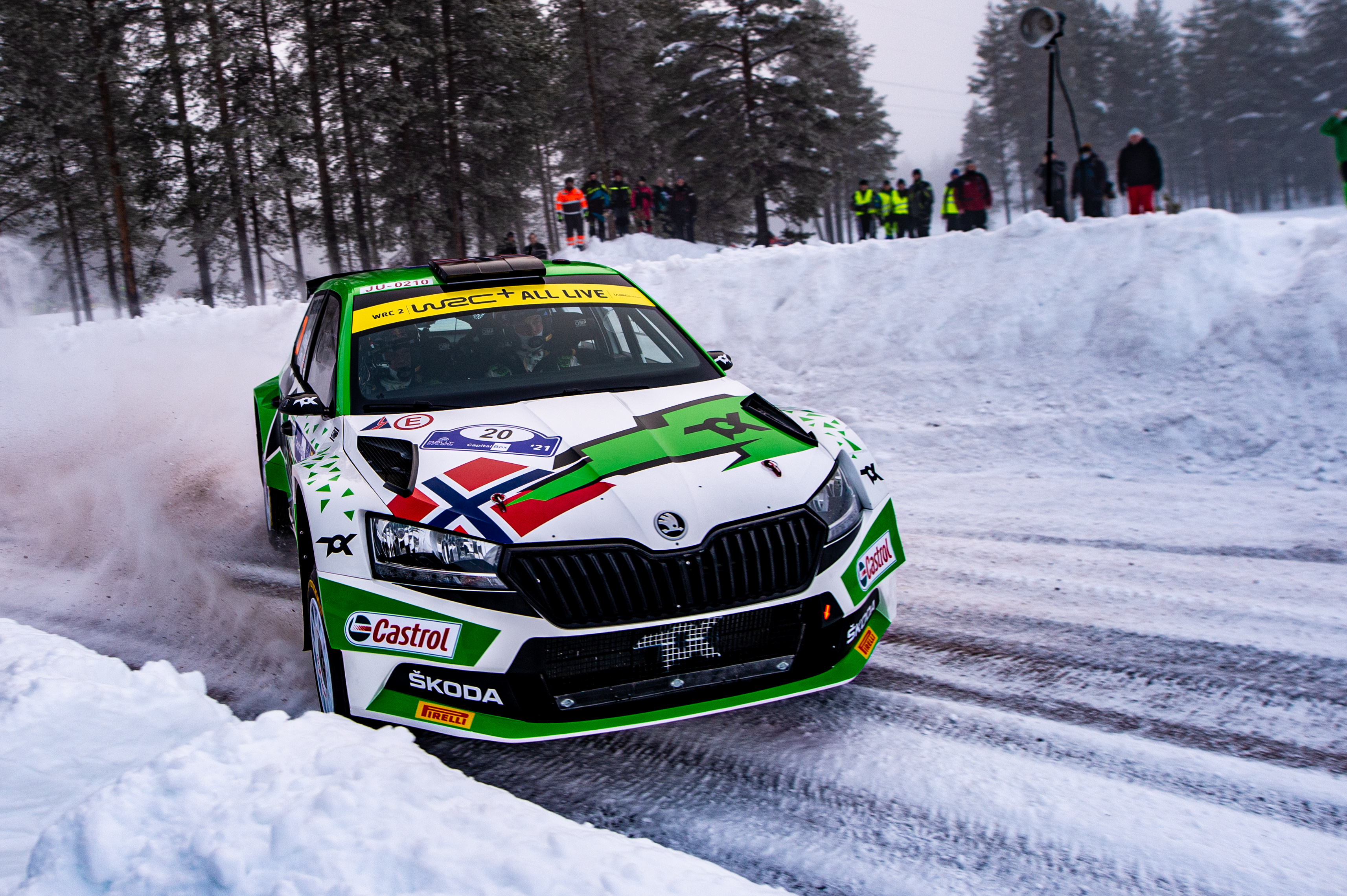 Arctic Rally Finland: SKODA Motorsport supported Andreas Mikkelsen finishes Friday leg third in WRC2 - Image 6
