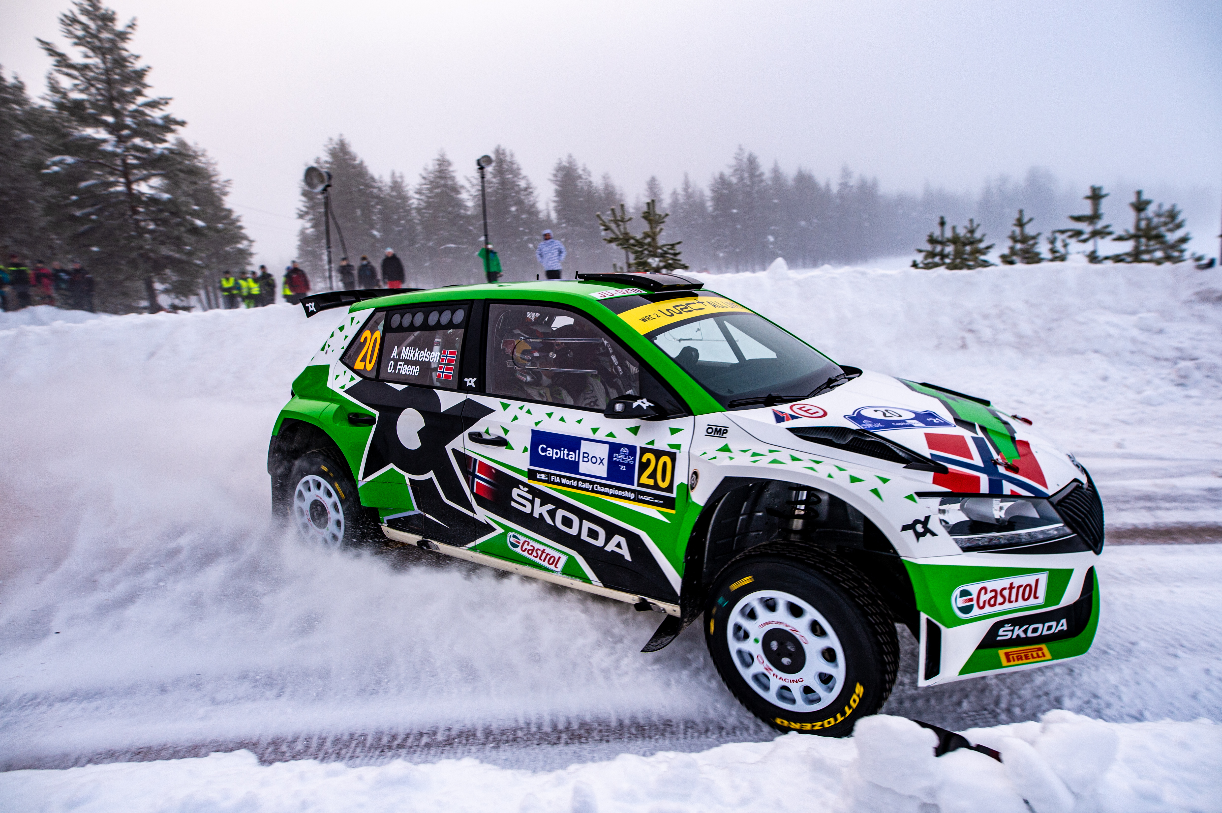 Arctic Rally Finland: SKODA Motorsport supported Andreas Mikkelsen finishes Friday leg third in WRC2 - Image 5
