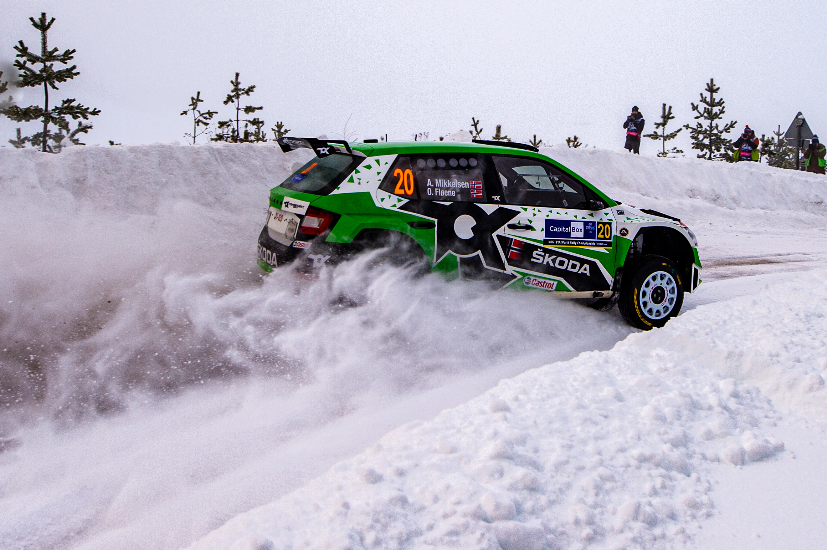 Arctic Rally Finland: SKODA Motorsport supported Andreas Mikkelsen finishes Friday leg third in WRC2 - Image 4