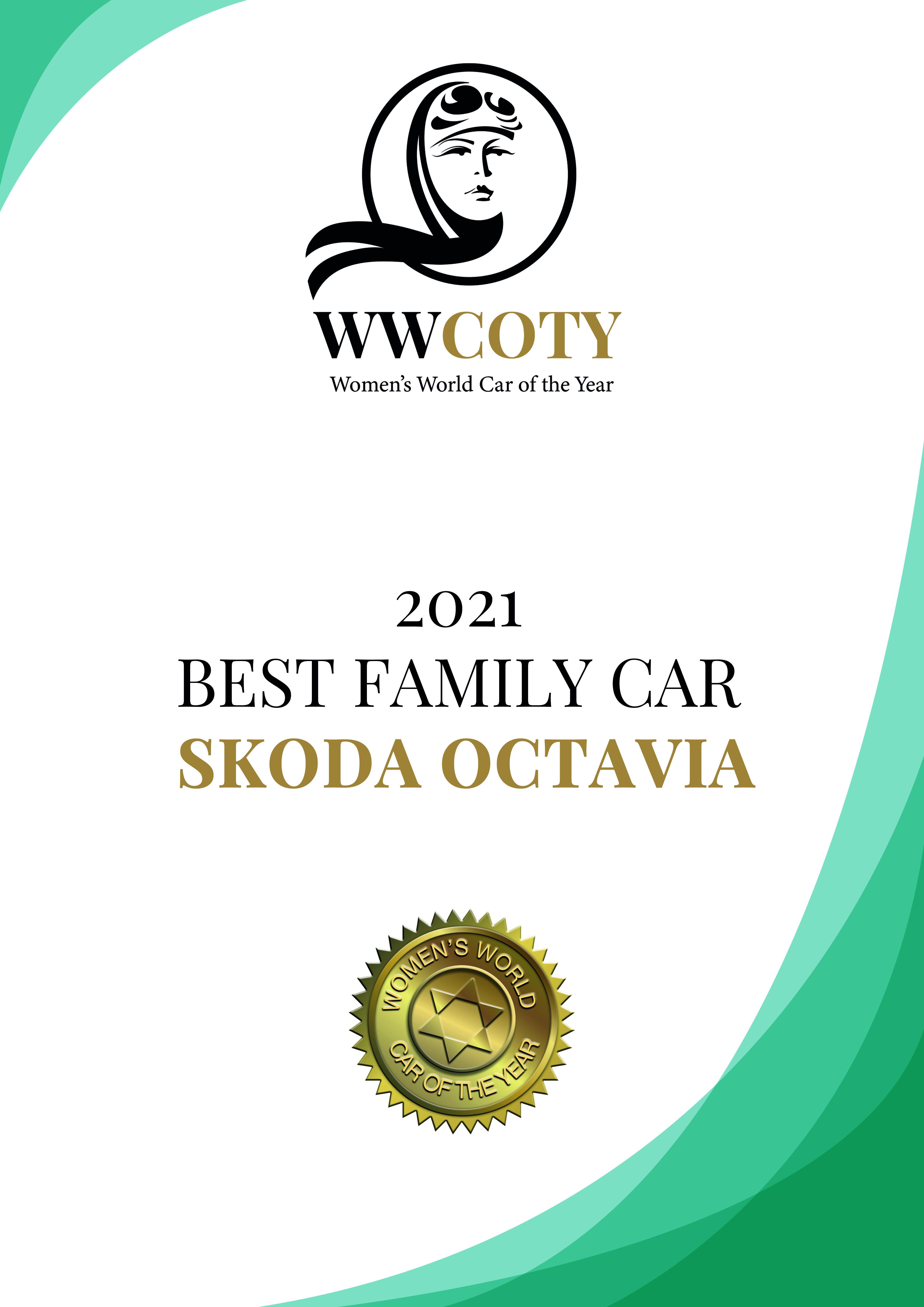 "SKODA OCTAVIA wins the ""Family Car"" category at the 2020 Women's World Car of the Year awards - Image 1"