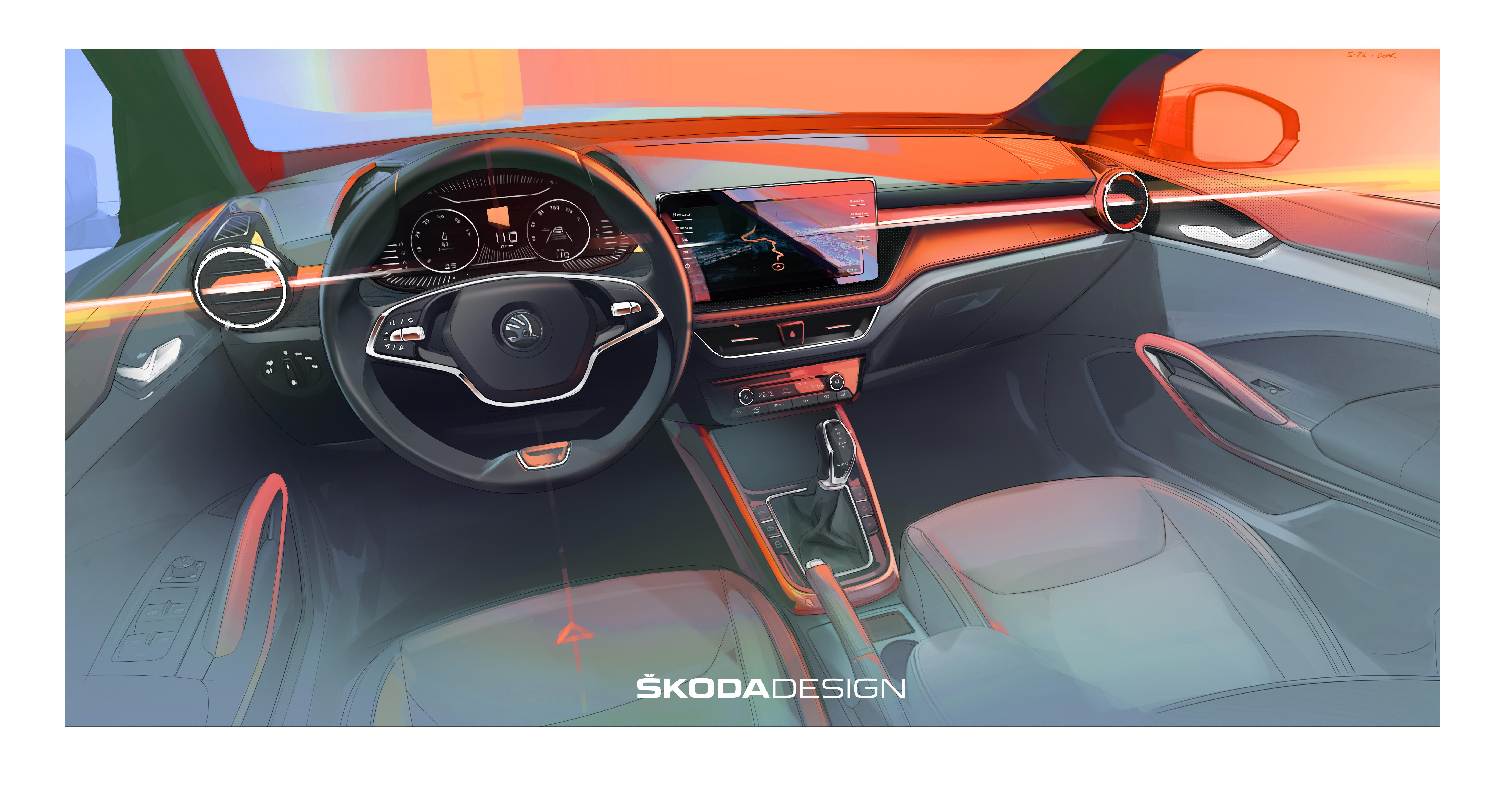 First impression of the new SKODA FABIA's interior - Image 2