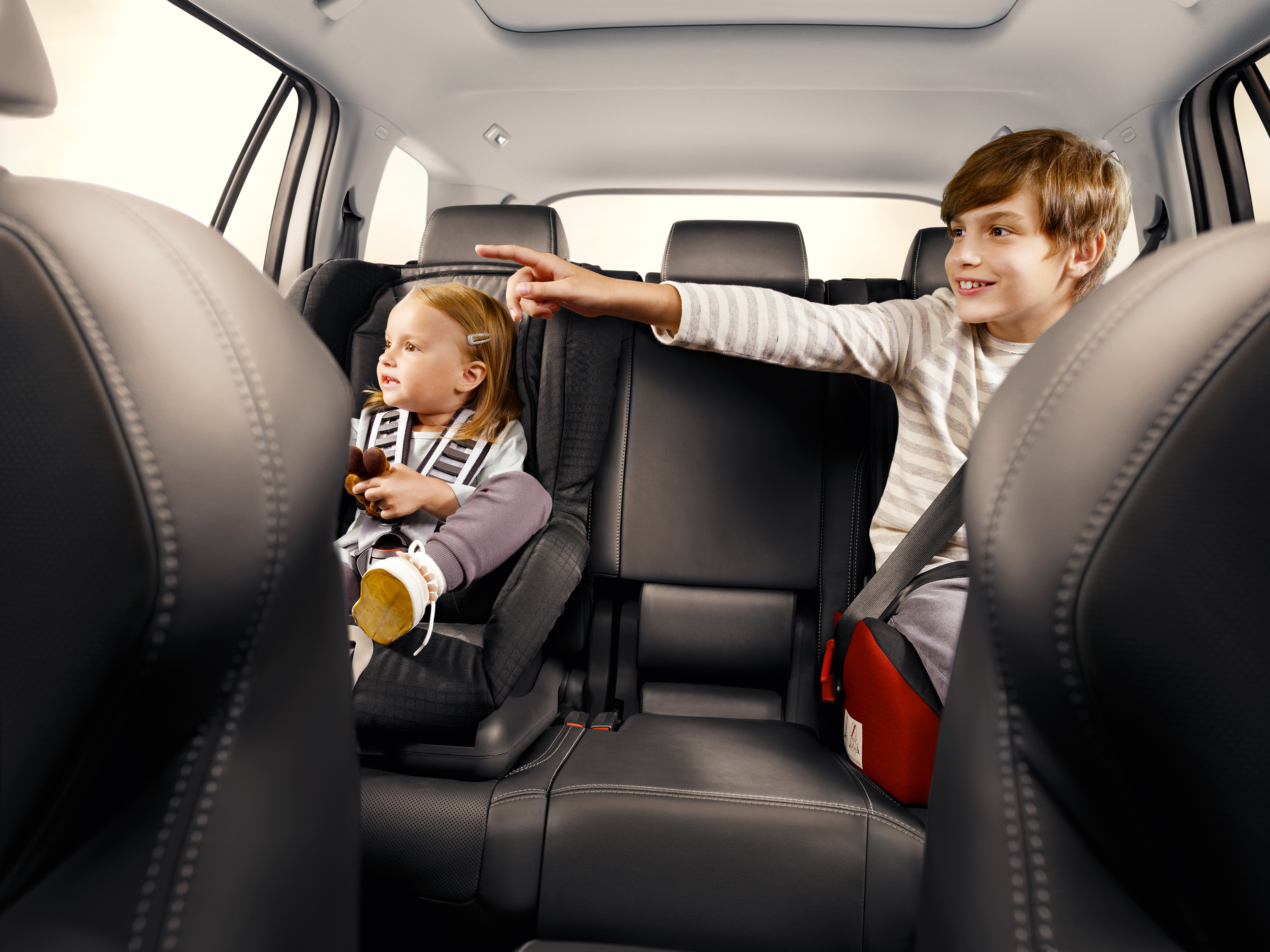 Keep your children in a full seat for as long as possible, until they grow out of it.