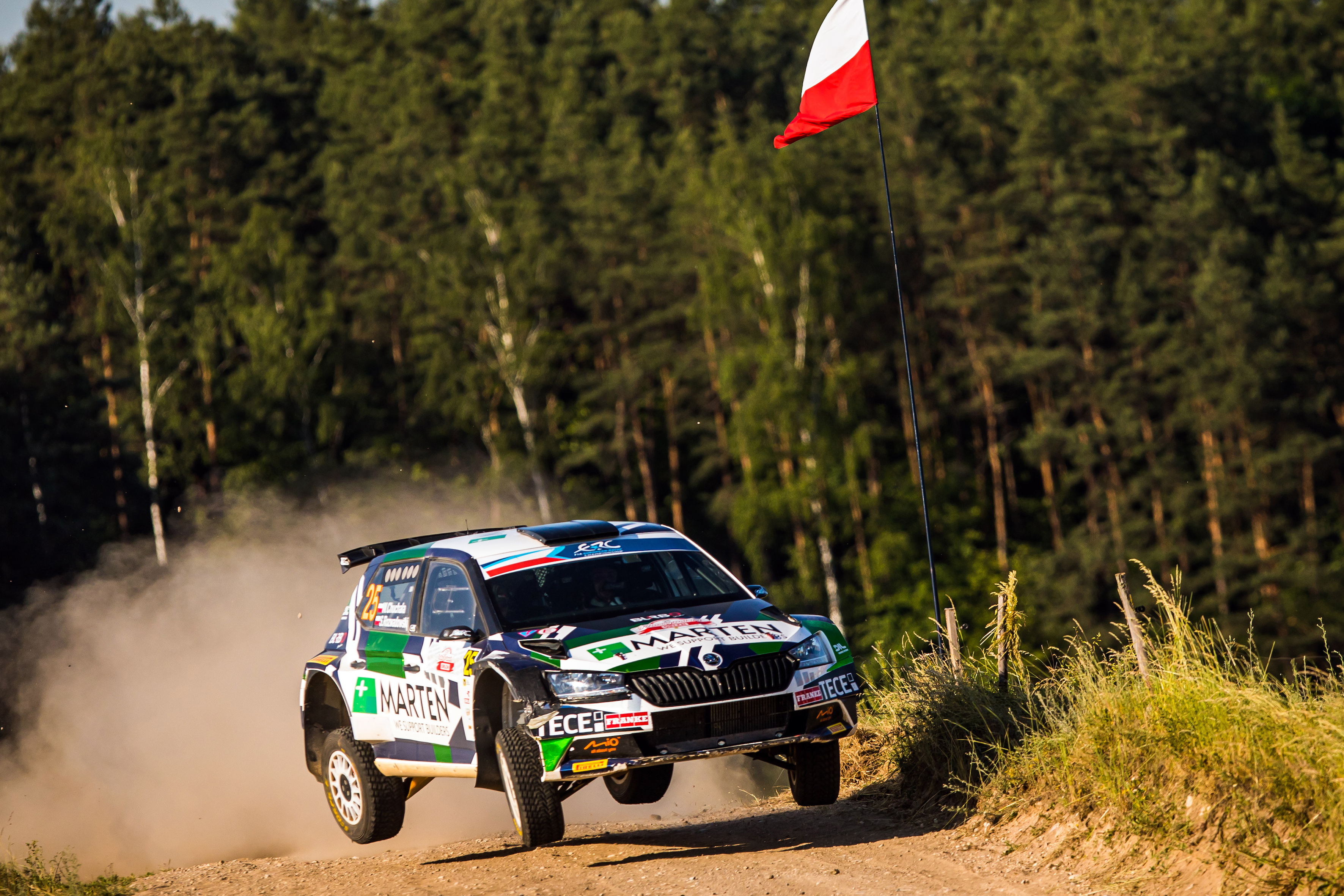 Rally Poland: Andreas Mikkelsen conquers second place with SKODA FABIA Rally2 evo - Image 7