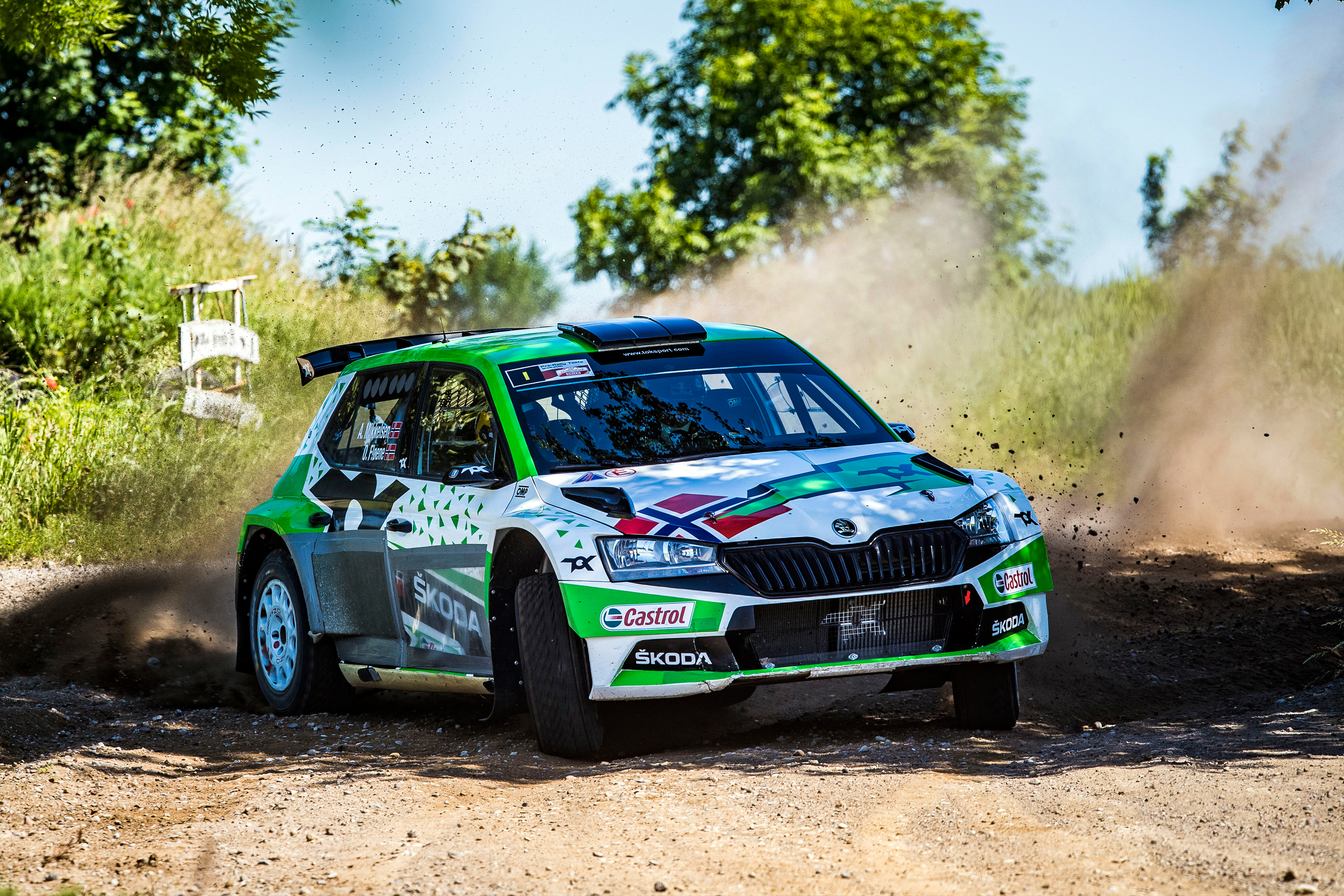 Rally Poland: Andreas Mikkelsen conquers second place with SKODA FABIA Rally2 evo - Image 5